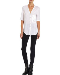 Helmut Lang Seamed Jersey Short Sleeve Shirt