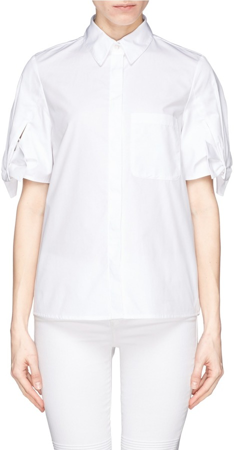 pleated short sleeved shirt - White Theory Purchase Online Sale Perfect Outlet Pay With Visa Sale Shop 11Y1zvzQ3