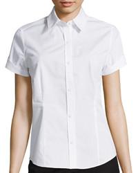 Liz Claiborne Short Sleeve Button Front Shirt