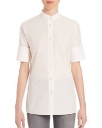 Acne Studios Short Sleeve Cotton Poplin Shirt