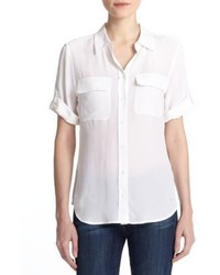 Equipment Short Sleeve Slim Blouse