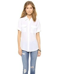 Short sleeve slim signature blouse medium 183296