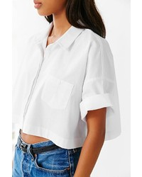 7ac005cd Lucca Couture Square Cropped Button Down Shirt, $59 | Urban ...