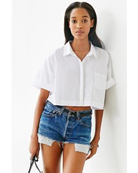 Lucca Couture Square Cropped Button Down Shirt