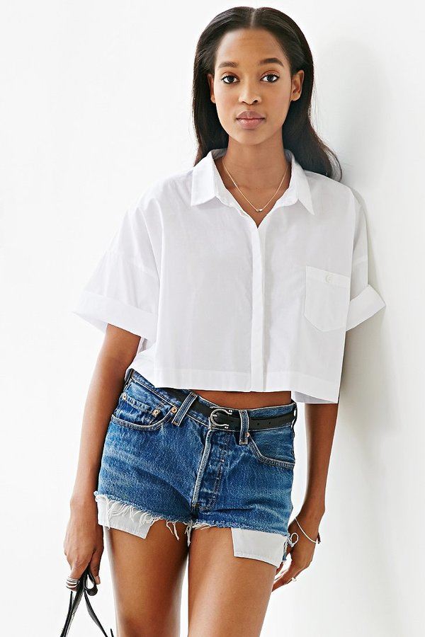 17bd866f Lucca Couture Square Cropped Button Down Shirt, $59 | Urban ...