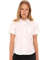 Marc by Marc Jacobs Stretch Poplin Fencing Shirt Clothing