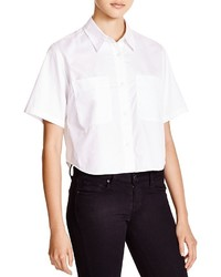 Alexander Wang T By Cropped Button Down Shirt