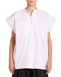 Tome Open Back Pique Cotton Shirt