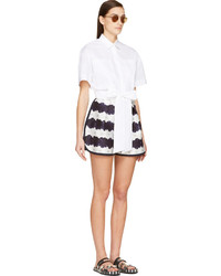eb3caa70203 MSGM White Cropped Button Up Blouse, $340 | SSENSE | Lookastic.com