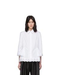Simone Rocha White Short Frill Shirt