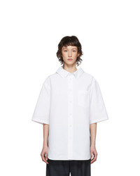 Balenciaga White Swing Short Sleeve Shirt