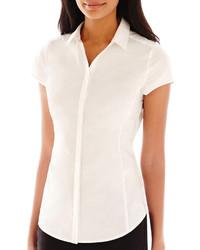 Worthington Worthington Essential Short Sleeve Shirt Tall