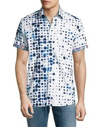 Robert Graham Biosphere Short Sleeve Sport Shirt White