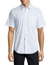 Alexander Wang Contrast Stitch Short Sleeve Shirt White