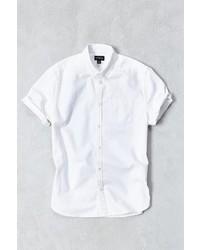 Cpo Denim Tacked Short Sleeve Button Down Shirt