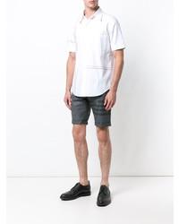 Thom Browne Engineered Rwb Stripe Oxford Shirt