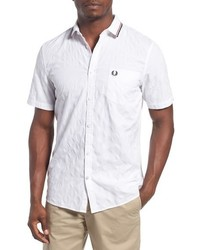 Fred Perry Extra Trim Fit Jacquard Dot Woven Polo