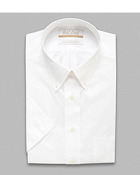 Roundtree & Yorke Gold Label Non Iron Regular Solid Full Fit Short Sleeve Button Down Collar Dress Shirt
