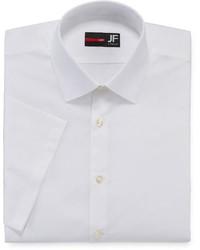 JF J.Ferrar Jf J Ferrar Short Sleeve Slim Fit Dress Shirt