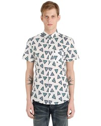 Kenzo Short Sleeve Triangle Cotton Shirt