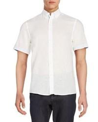 Report Collection Linen Cotton Short Sleeve Shirt