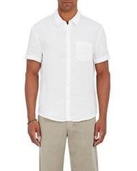 James Perse Linen Short Sleeve Shirt White