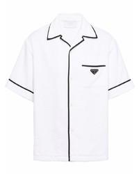 Prada Logo Plaque Short Sleeve Shirt