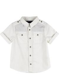 River Island Mini Boys White Short Sleeve Shirt