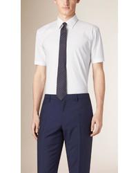 Burberry Modern Fit Short Sleeved Stretch Cotton Shirt