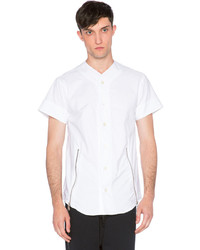 Mr Completely Front Zip Oxford Shirt