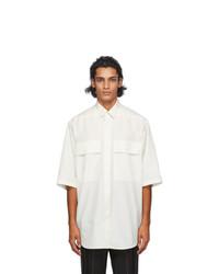 Fear of God Ermenegildo Zegna Off White Cotton Short Sleeve Shirt