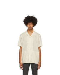 Tiger of Sweden Off White Riccerde Short Sleeve Shirt