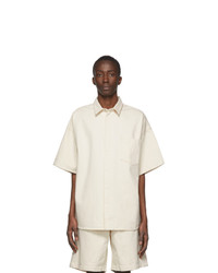 Jil Sanderand Off White Twill Shirt