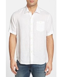 Tommy Bahama Party Breezer Island Modern Fit Short Sleeve Linen Sport Shirt
