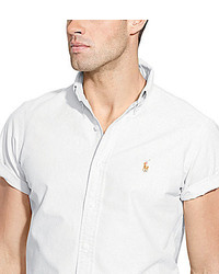 ... Polo Ralph Lauren Short Sleeve Solid Oxford Shirt ...