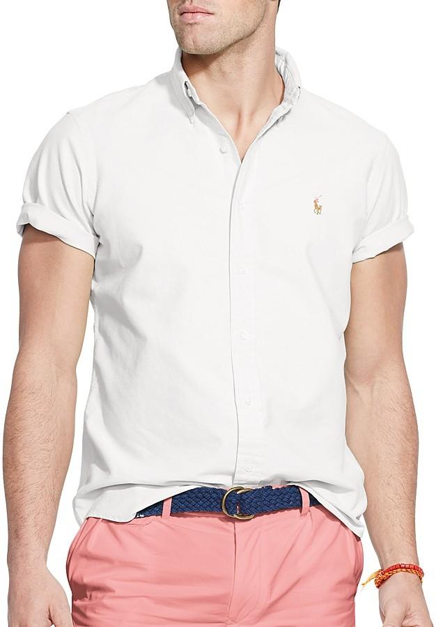 Ralph Lauren Polo Short Sleeve Oxford Button Down Shirt Classic ...