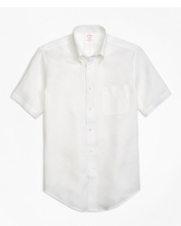 Brooks Brothers Regent Fit Irish Linen Short Sleeve Sport Shirt