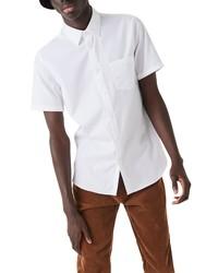 Lacoste Regular Fit Pocket Short Sleeve Pique Button Up Shirt