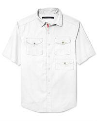 Sean John Shirt Solid Outdoor Button Front Shirt