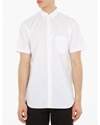 Comme des Garcons Shirt White Short Sleeved Cotton Shirt