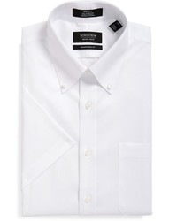 Shop traditional fit non iron short sleeve dress shirt medium 680205