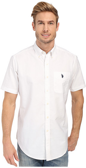 U S Polo Assn Short Sleeve Button Down Oxford Shirt 25 6pm Com
