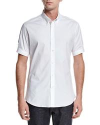Alexander McQueen Short Sleeve Button Down Shirt White