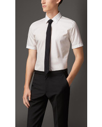 Burberry Short Sleeve Cotton Poplin Shirt