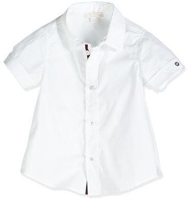 f02a67b8a57 ... Gucci Short Sleeve Poplin Shirt White Size 0 36 Months ...
