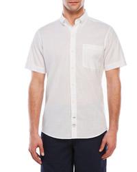 Izod Short Sleeve Slub Woven Shirt