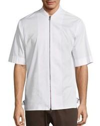 Helmut Lang Short Sleeve Zip Front Shirt