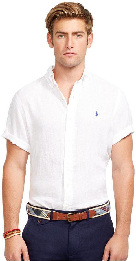 6f0c03f65 Polo Ralph Lauren Short Sleeved Linen Shirt, $98 | Macy's ...