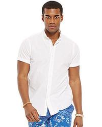 Polo Ralph Lauren Short Sleeved Striped Seersucker Shirt