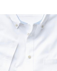 Charles Tyrwhitt Slim Fit White Short Sleeve Washed Oxford Shirt
